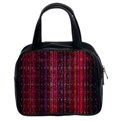 Colorful And Glowing Pixelated Pixel Pattern Classic Handbags (2 Sides) by Amaryn4rt