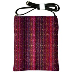 Colorful And Glowing Pixelated Pixel Pattern Shoulder Sling Bags by Amaryn4rt
