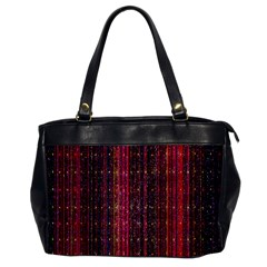 Colorful And Glowing Pixelated Pixel Pattern Office Handbags by Amaryn4rt