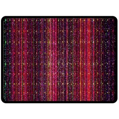 Colorful And Glowing Pixelated Pixel Pattern Fleece Blanket (large)  by Amaryn4rt