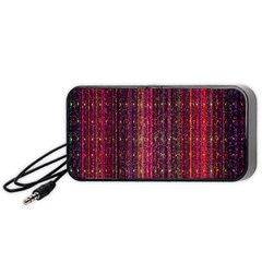 Colorful And Glowing Pixelated Pixel Pattern Portable Speaker (black) by Amaryn4rt