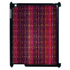 Colorful And Glowing Pixelated Pixel Pattern Apple Ipad 2 Case (black) by Amaryn4rt