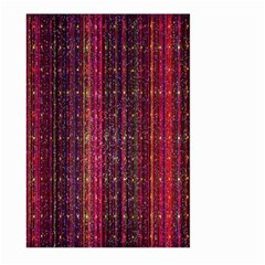 Colorful And Glowing Pixelated Pixel Pattern Large Garden Flag (two Sides) by Amaryn4rt