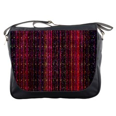 Colorful And Glowing Pixelated Pixel Pattern Messenger Bags by Amaryn4rt