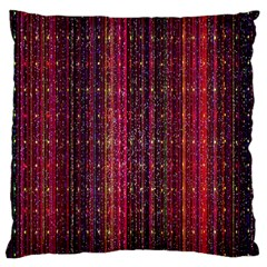 Colorful And Glowing Pixelated Pixel Pattern Large Cushion Case (one Side) by Amaryn4rt