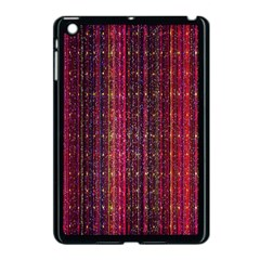 Colorful And Glowing Pixelated Pixel Pattern Apple Ipad Mini Case (black) by Amaryn4rt