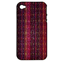 Colorful And Glowing Pixelated Pixel Pattern Apple Iphone 4/4s Hardshell Case (pc+silicone) by Amaryn4rt