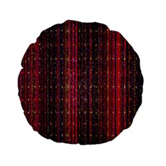 Colorful And Glowing Pixelated Pixel Pattern Standard 15  Premium Round Cushions by Amaryn4rt