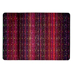 Colorful And Glowing Pixelated Pixel Pattern Samsung Galaxy Tab 10 1  P7500 Flip Case by Amaryn4rt