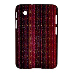 Colorful And Glowing Pixelated Pixel Pattern Samsung Galaxy Tab 2 (7 ) P3100 Hardshell Case  by Amaryn4rt