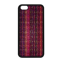 Colorful And Glowing Pixelated Pixel Pattern Apple Iphone 5c Seamless Case (black) by Amaryn4rt