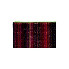 Colorful And Glowing Pixelated Pixel Pattern Cosmetic Bag (xs) by Amaryn4rt