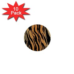 Tiger Animal Print A Completely Seamless Tile Able Background Design Pattern 1  Mini Buttons (10 Pack)  by Amaryn4rt