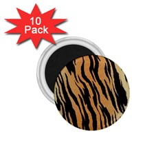 Tiger Animal Print A Completely Seamless Tile Able Background Design Pattern 1 75  Magnets (10 Pack)  by Amaryn4rt