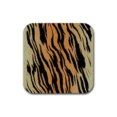 Tiger Animal Print A Completely Seamless Tile Able Background Design Pattern Rubber Square Coaster (4 Pack)  by Amaryn4rt
