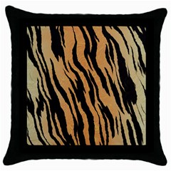 Tiger Animal Print A Completely Seamless Tile Able Background Design Pattern Throw Pillow Case (black) by Amaryn4rt