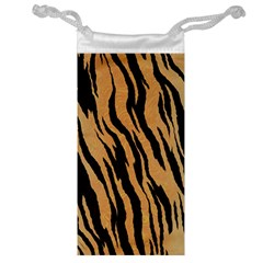 Tiger Animal Print A Completely Seamless Tile Able Background Design Pattern Jewelry Bag by Amaryn4rt