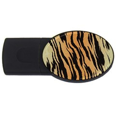 Tiger Animal Print A Completely Seamless Tile Able Background Design Pattern Usb Flash Drive Oval (4 Gb) by Amaryn4rt