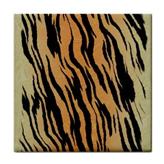 Tiger Animal Print A Completely Seamless Tile Able Background Design Pattern Face Towel by Amaryn4rt