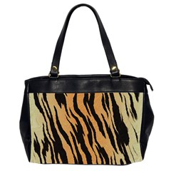 Tiger Animal Print A Completely Seamless Tile Able Background Design Pattern Office Handbags (2 Sides)  by Amaryn4rt