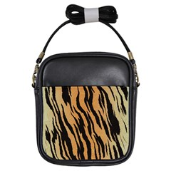 Tiger Animal Print A Completely Seamless Tile Able Background Design Pattern Girls Sling Bags by Amaryn4rt