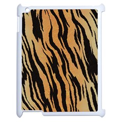 Tiger Animal Print A Completely Seamless Tile Able Background Design Pattern Apple Ipad 2 Case (white) by Amaryn4rt