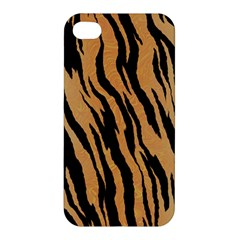 Tiger Animal Print A Completely Seamless Tile Able Background Design Pattern Apple Iphone 4/4s Premium Hardshell Case by Amaryn4rt
