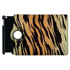 Tiger Animal Print A Completely Seamless Tile Able Background Design Pattern Apple Ipad 2 Flip 360 Case by Amaryn4rt