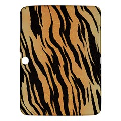 Tiger Animal Print A Completely Seamless Tile Able Background Design Pattern Samsung Galaxy Tab 3 (10 1 ) P5200 Hardshell Case  by Amaryn4rt