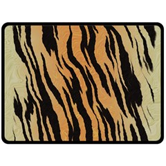 Tiger Animal Print A Completely Seamless Tile Able Background Design Pattern Double Sided Fleece Blanket (large)  by Amaryn4rt