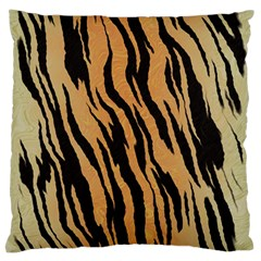 Tiger Animal Print A Completely Seamless Tile Able Background Design Pattern Standard Flano Cushion Case (one Side) by Amaryn4rt