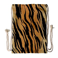Tiger Animal Print A Completely Seamless Tile Able Background Design Pattern Drawstring Bag (large) by Amaryn4rt