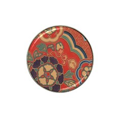 Vintage Chinese Brocade Hat Clip Ball Marker (4 Pack) by Amaryn4rt