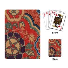 Vintage Chinese Brocade Playing Card by Amaryn4rt