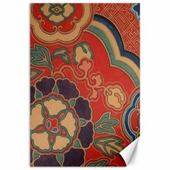 Vintage Chinese Brocade Canvas 24  X 36  by Amaryn4rt