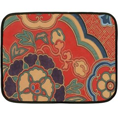 Vintage Chinese Brocade Fleece Blanket (mini) by Amaryn4rt