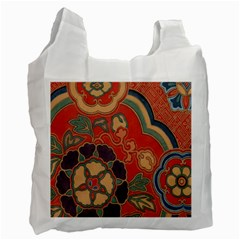 Vintage Chinese Brocade Recycle Bag (one Side) by Amaryn4rt