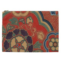 Vintage Chinese Brocade Cosmetic Bag (xxl)  by Amaryn4rt