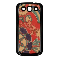 Vintage Chinese Brocade Samsung Galaxy S3 Back Case (black) by Amaryn4rt