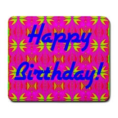 Happy Birthday! Large Mousepads by Amaryn4rt