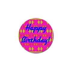 Happy Birthday! Golf Ball Marker (10 Pack) by Amaryn4rt