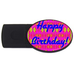 Happy Birthday! Usb Flash Drive Oval (2 Gb) by Amaryn4rt