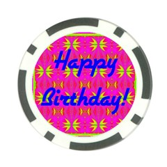 Happy Birthday! Poker Chip Card Guard (10 Pack) by Amaryn4rt