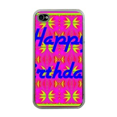 Happy Birthday! Apple Iphone 4 Case (clear) by Amaryn4rt