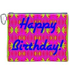 Happy Birthday! Canvas Cosmetic Bag (xxxl) by Amaryn4rt