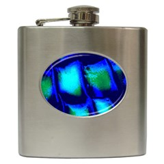 Blue Scales Pattern Background Hip Flask (6 Oz) by Amaryn4rt