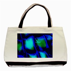 Blue Scales Pattern Background Basic Tote Bag by Amaryn4rt