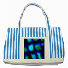 Blue Scales Pattern Background Striped Blue Tote Bag by Amaryn4rt