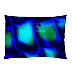 Blue Scales Pattern Background Pillow Case by Amaryn4rt