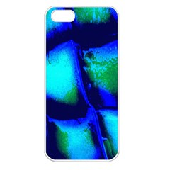 Blue Scales Pattern Background Apple Iphone 5 Seamless Case (white) by Amaryn4rt